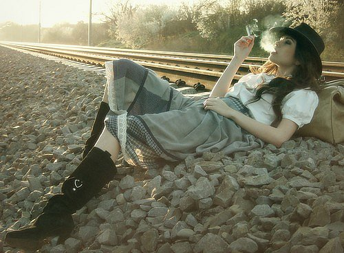 Girls On Railroad Tracks