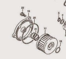 O-Ring Dichtung Ölfilter /hinten