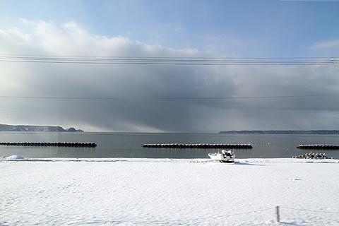 JR北海道 花咲線 ルパン三世ラッピングトレインからの車窓 その2