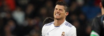 Cristiano injured after scored his third goal against Malaga