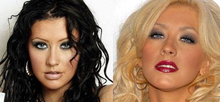 Christina Aguilera loira ou morena?