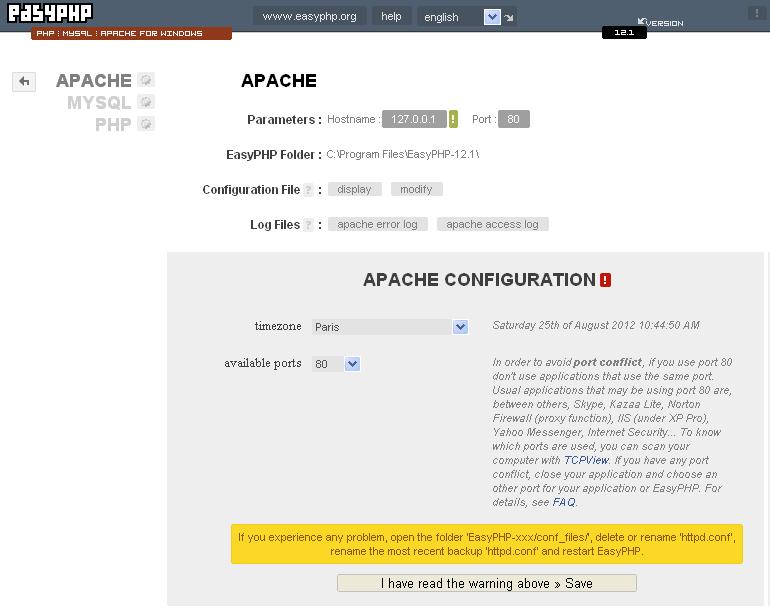 easyphp 5.4.6 gratuit