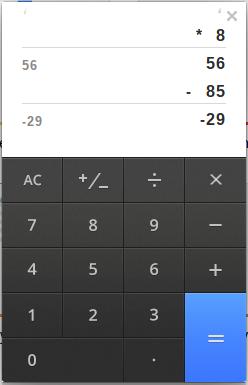 Google Chrome OS Taschenrechner