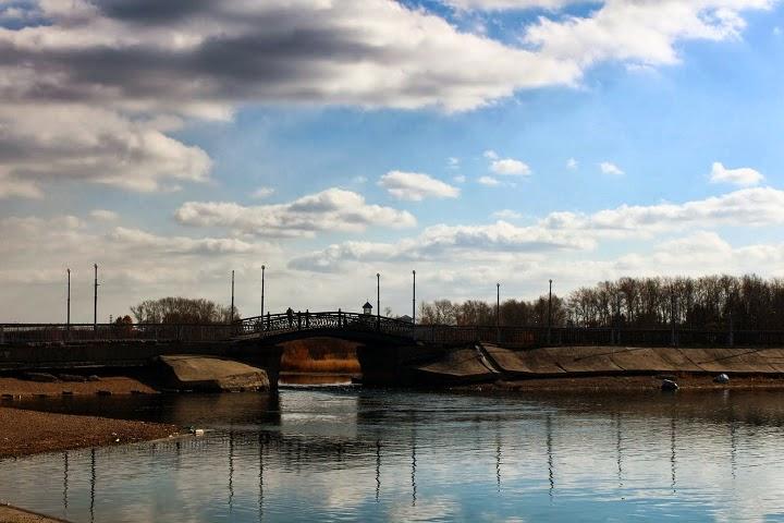 Irkutsk bridge Angkara River Russia