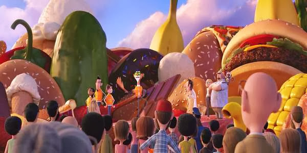 Screen Shot Of Hollywood Movie Cloudy with a Chance of Meatballs 2 (2013) Download And Watch Online Free at Alldownloads4u.Com