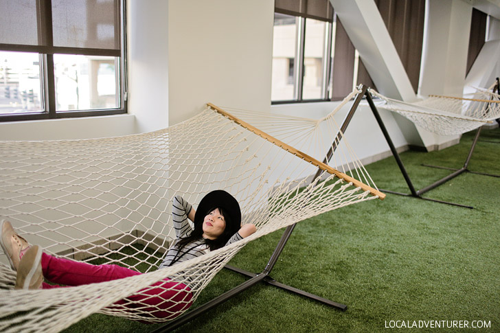 Hammocks at the Zappos Corporate Office.