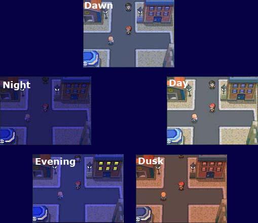 Hệ thống ngày đêm trong Pokemon Diamond