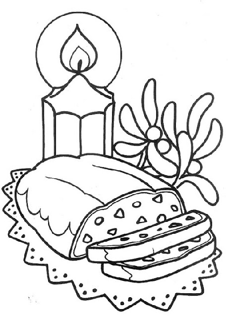 Christmas dinner coloring pages