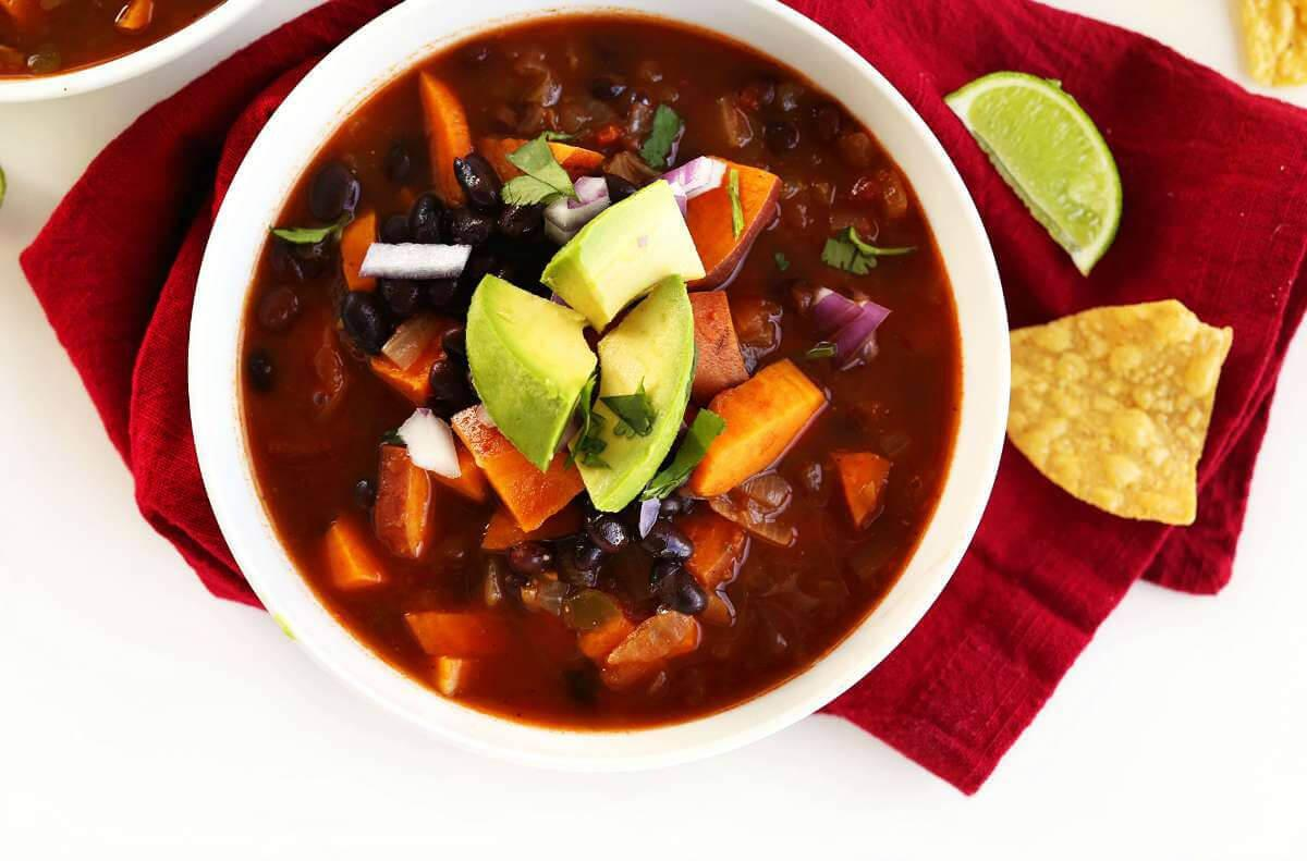 Image result for 5-INGREDIENT SWEET POTATO BLACK BEAN CHILI
