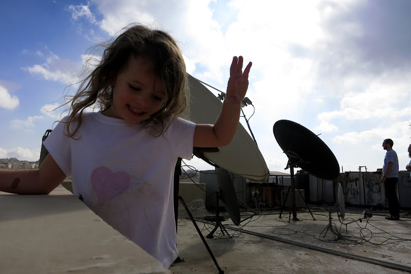 More Ella goofing off on the roof