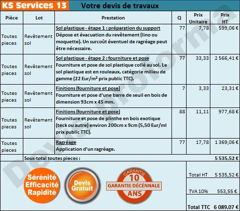 Ks Services 13 Pose Lino Devis Gratuit Et Sans Engagement