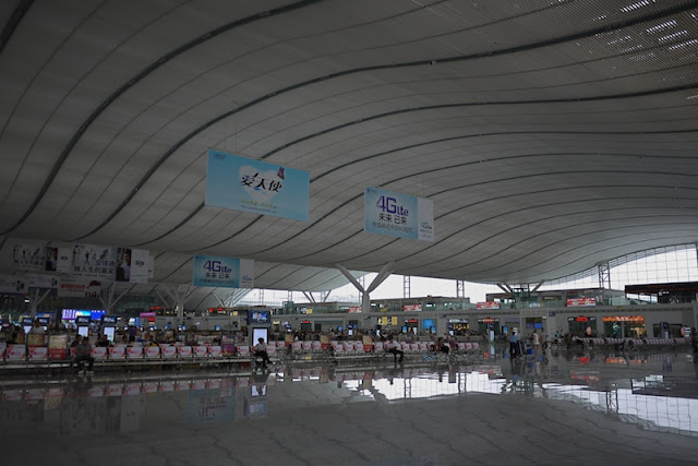 Inside the Shenzhen North Train Station