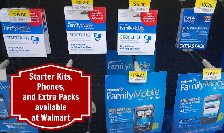 Phones, Starter Kits & Extra Packs Available For Unlimited Plans at Walmart #FamilyMobileSaves