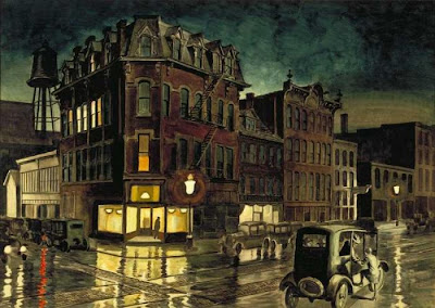 Charles Burchfield  -  Rainy Night   1930