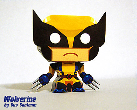 Mini Wolverine Paper Toy
