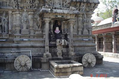 Melkadambur temple designed as Chariot.jpg
