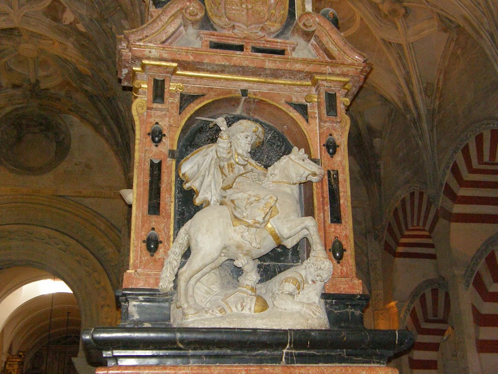 Cutting down the Muslims - in the Cathedral-Mosque of Cordoba