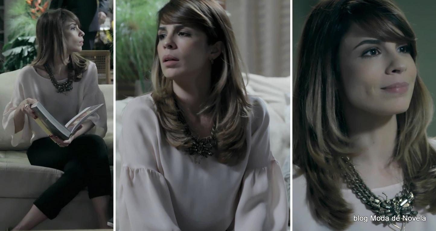 moda da novela Império, look da Danielle dia 6 de outubro