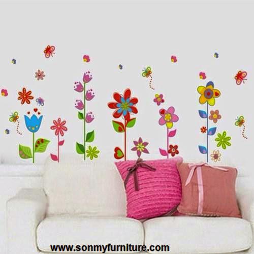 Trang trí nhà đón Tết với giấy dán tường mùa xuân-5