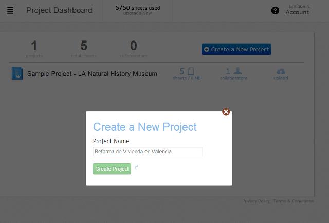 Apps de Construcción - Crear nuevo proyecto