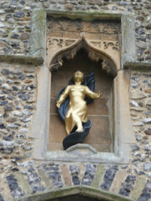 Figure set in the tower of Ufford church
