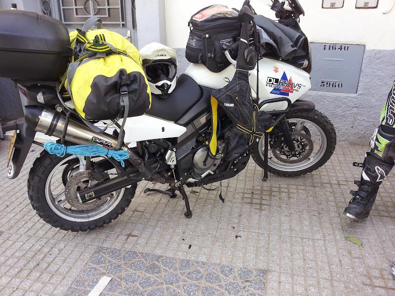 Locky's bike with knobblies