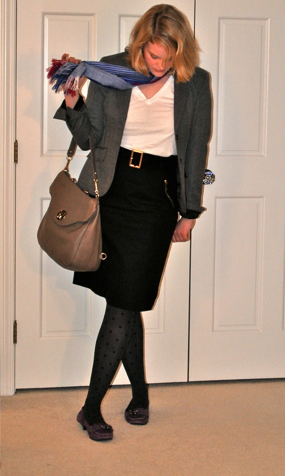 office outfit j.crew blazer