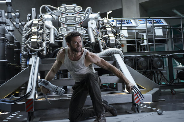 The Wolverine Logan (Hugh Grant) about to unleash some bad assery