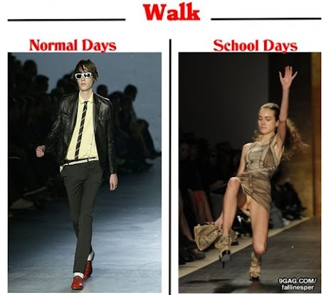 Normal Days VS School Days-walk