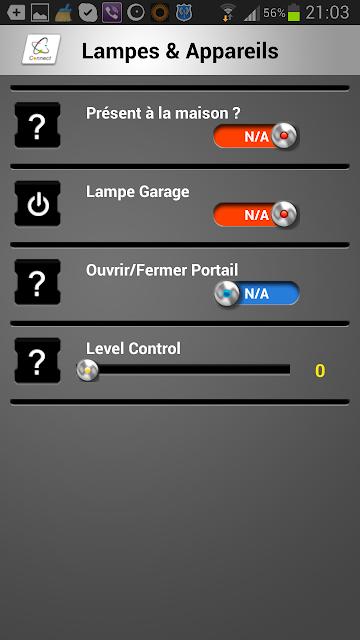 Commandes mobiles