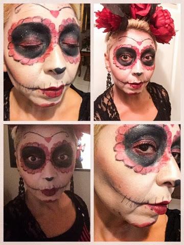 halloween sugar skull easy costume and makeup