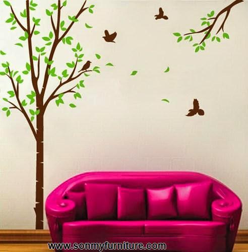 Trang trí nhà đón Tết với giấy dán tường mùa xuân-4