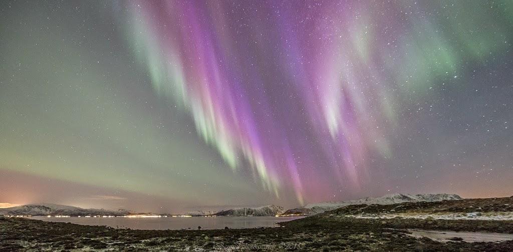 The night sky in Stamnes, Sortland in Vesterålen, northern Norway. Photographer Benny Høynes