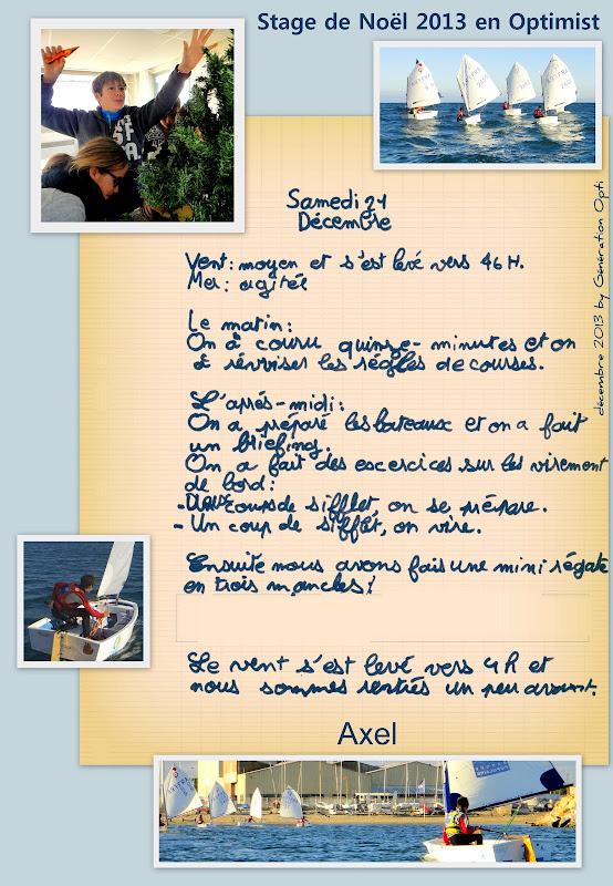 Voile Canet stage Optimist Noël_2013 enfant Perpignan 66