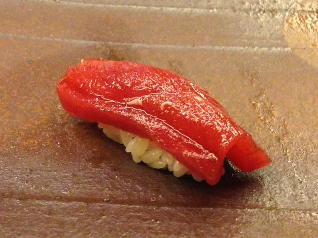 鮨一新 鮪赤身の漬け