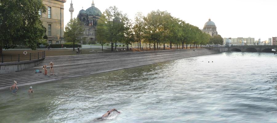 Lustgarten mit Blick in Richtung des Berliner Doms