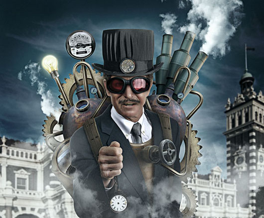 Tutorial foto manipulação steampunk Photoshop