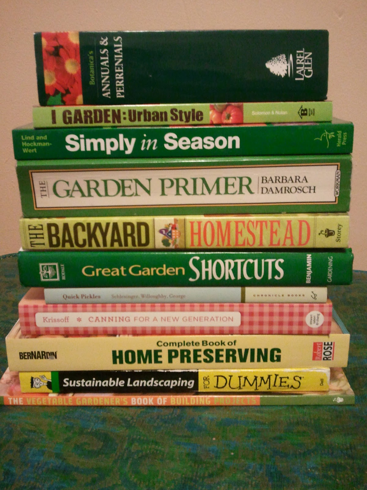 collections garden gardening books