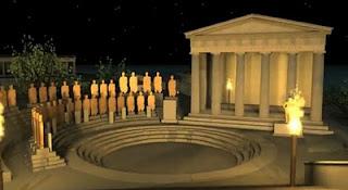 αναπαράσταση Καβείριων μυστηριων, representation of Cabirian mysteries