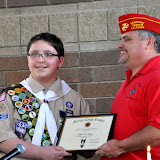 Carmel Boy Scouts Nick Niehaus Eagle Court of Honor
