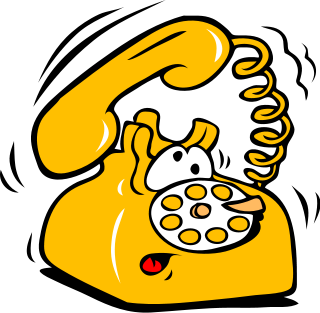 gambar telepon kartun