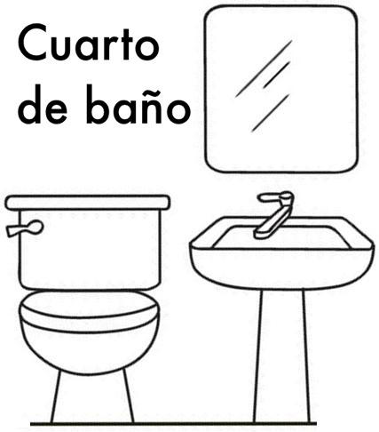Dibujos de baños para colorear e imprimir - Imagui