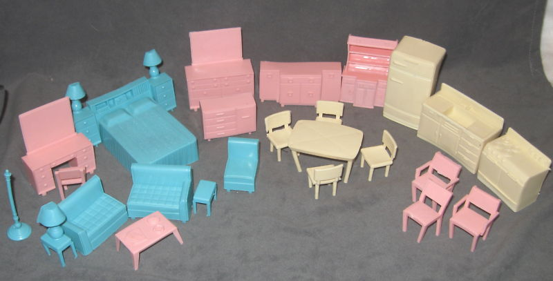 The vintage plastic dollhouse furniture are mistaken