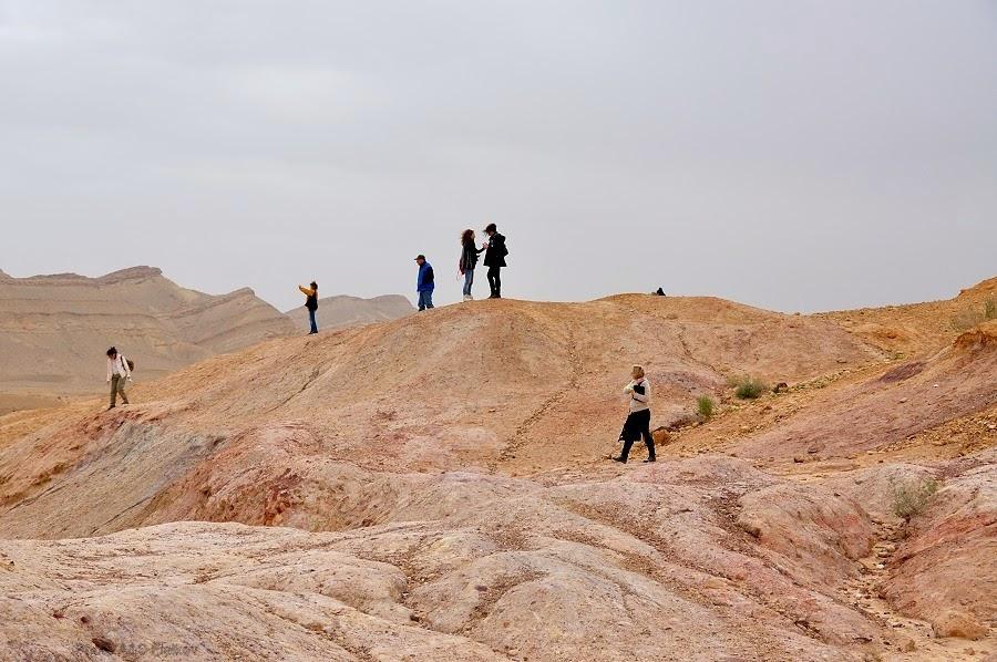Группа на Цветных Песках. Экскурсия гида Светланы Фиалковой в пустыню Негев.