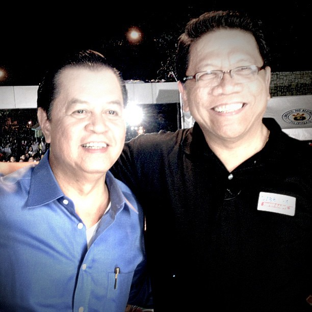 Noli de Castro and Mike Enriquez - Photo