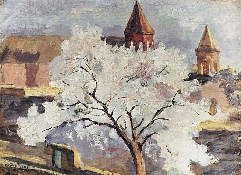 Martiros Saryan - Apricot tree in blossom, 1942