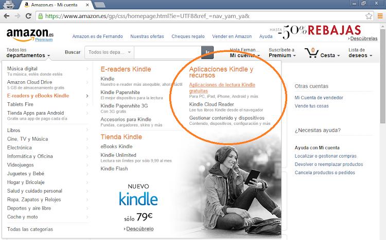 Bajar libros gratis de Amazon
