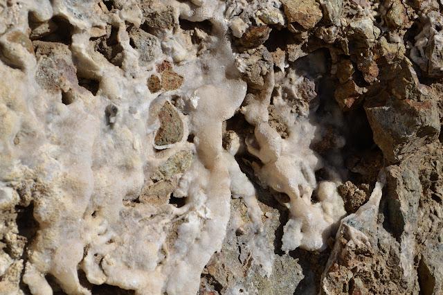 white crystalline coating