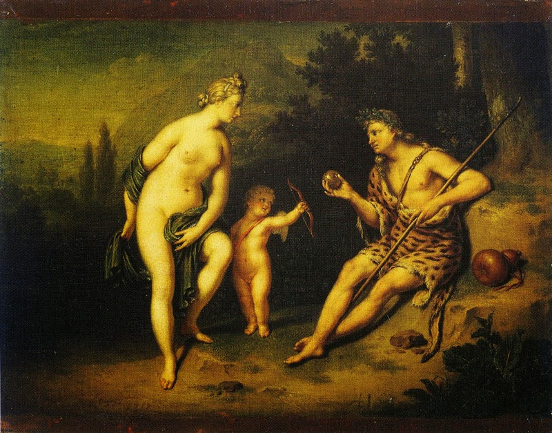 Willem van Mieris - Venus and Paris