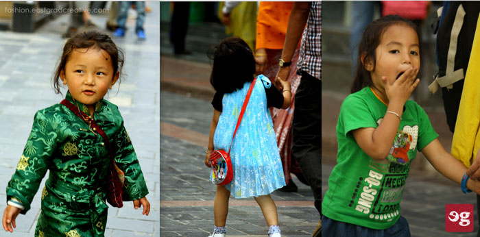 Cute kids in Gangtok MG Marg